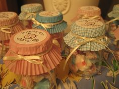 Favours in baby food jars