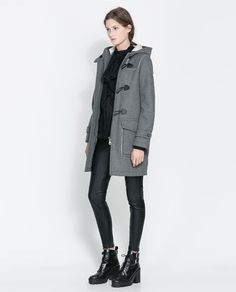 Image 1 of TWO-SIDED COAT from Zara