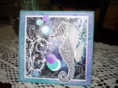 Zentangle Seahorse by Illinois Marge - Cards and Paper Crafts at Splitcoaststampers