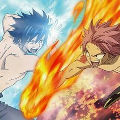 Gray vs. Natsu (Fairy Tail) Omg I can't decide, I love them both!! ^~^