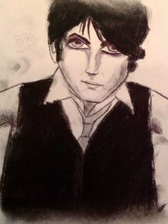 Portrait drawing of Gerard Way of My Chemical Romance.