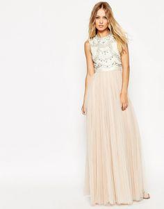 Image 1 ofNeedle & Thread Embellished Lace Bodice Evening Dress