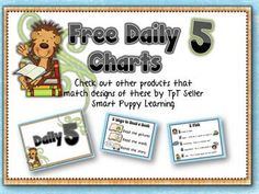 Great FREE Daily 5 posters in multiple themes and other literacy products to match!  Too cute!