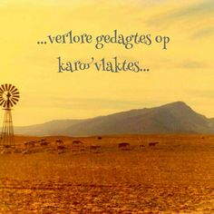 Beautiful Karoo, scene South Africa is an amazing country - diverse landscapes & beautiful scenery. Visit the Karoo Places To Travel, Places To Visit, Out Of Africa, Africa Travel, Countries Of The World, Beautiful Places, Beautiful Scenery, Windmill, Afrikaans