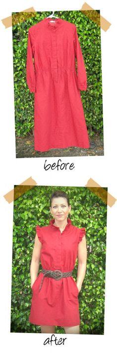 Thrift Store Dress Refashion
