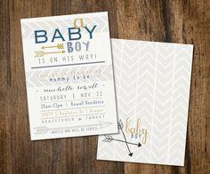 Arrow Baby Shower invite. By DubDubDesigns dubdubdesigns.etsy.com
