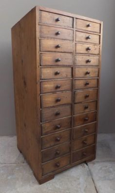 OCTOBER COUNTRY: Late Victorian Pine Watchmakers Drawer Unit 26.4 ins high £295 from www.theantiquekitchen.co.uk.