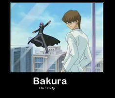 Bakura can fly. Yu-Gi-Oh! yugioh funny