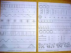 """Kellian continue à faire des exercices de Moyenne section. Il a fait de gros progrès dans le tracé des boucles. Nous avons donc pu commencer à tracer ses premières lettres en cursive et de manière autonome. Nous avons commencé par le """"l""""et le """"e"""", puis..."""