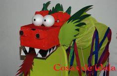 Dragón hecho para trabajar en el cole el año nuevo chino