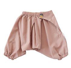 100 Cotton Japanese Baby Samurai Pants  Mushroom by cheekybritches, $33.95