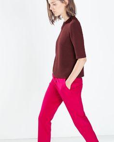 Image 1 of EPAULETTE TOP from Zara