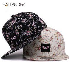HATLANDER Brand embroidery bowknot baseball caps for women outdoor sun hats  feminino floral hip 0e8fbee06cea