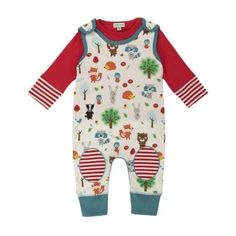 Lilly & Sid Forest Friends Dungaree Set