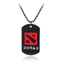 New Arrival DOTA2 Necklaces & Pendants Game Dota 2 Cosplay Ornaments For Men Gifts Maxi Black Bead chain Necklaces