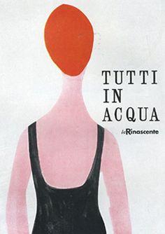 By Lora Lamm (born 1928), 1957, Tutti in acqua, La Rinascente. (I)