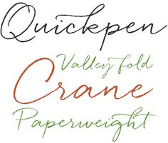 Quickpen was designed to re-create a carefree, confident piece of faux-lettering — like a quickly-jotted script written with a felt-tip pen or brush. #fonts #type