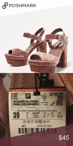 03bedccbd73 Shop Women s Zara Pink size 8 Platforms at a discounted price at Poshmark.  Can send more pictures if need be.