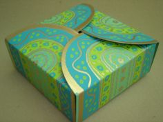 Green-Turquoise Small Square Box  (44)