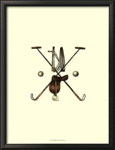 Polo Saddle Giclee Print by Vision Studio