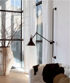 The Lampe Gras wall light attaches to a rail giving it a strong graphical expression. Shop contemporary and designer lighting today at Utility Design. Led Wall Lamp, Wall Sconce Lighting, Wall Sconces, Salon Lighting, Lighting Stores, Garage Lighting, Luminaire Mural, Luminaire Design, Lampe Salon Design