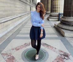 Chemise à volants et jupe