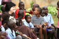 Surrounded by my friends at Seeta Children's home in 2010.