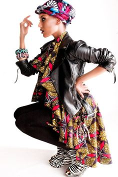 edgy african chic