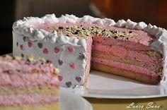 Tort cu crema de iaurt si zmeura   Retete culinare cu Laura Sava
