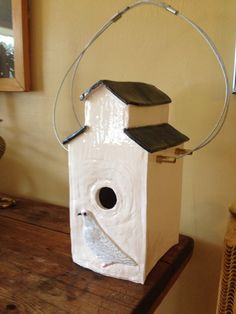 Elevator birdhouse by Jo Newhall.  2014