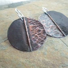 Heat Forged Copper Earrings from Balsamroot Ranch Jewelry on OpenSky
