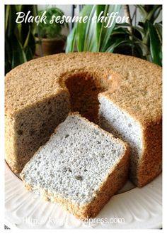Black sesame seed chiffon cake, recipe yet to try