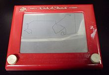 Etch A Sketch – analog display - material reaction