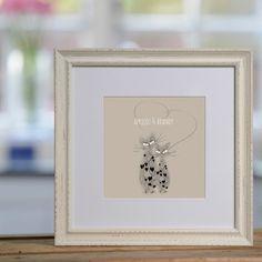 Kitten Hearts personalised print £48