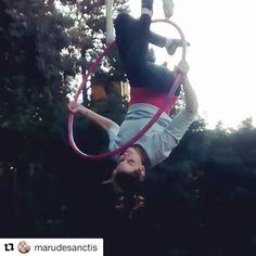 """934 Likes, 9 Comments - Aerial Hoop Tricks (@aerialhooptricks) on Instagram: """"We love this trick by @marudesanctis ! ❤️ #aerialhooptricks"""""""
