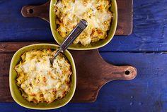 Tökkrémes, sajtos sült tészta