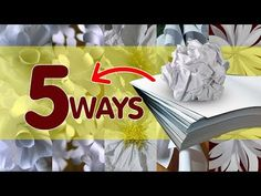 5 Ways to Make Bond Paper Flowers - YouTube