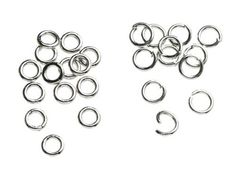 500pc 4mm Open/Close Jump Ring Silver   PrimaBead - Jewelry Supplies on ArtFire