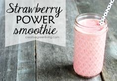 This strawberry smoothie is high in protein and vitamin C and looks delicious! I cannot wait to try it.