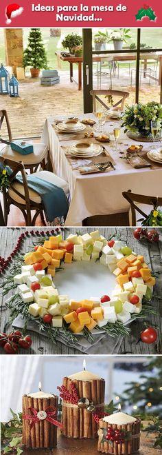 Ideas para decorar la mesa de Navidad. Mesas navideñas. Mesa de nochebuena. #mesanavideña #decoraciondemesas #nochebuena