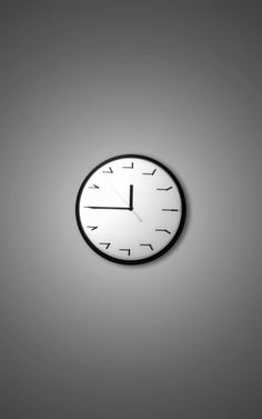 Modern Wall Clock (No Source)