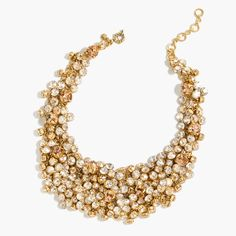 The J.Crew Valentine's Day Shop: women's crystal jumble necklace.