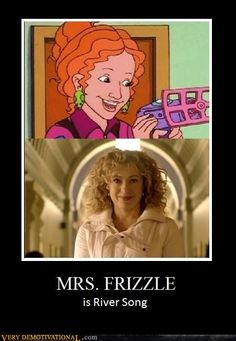 I actually like to believe that she's River and 11's daughter. Red hair (from Amy, River's mom), dresses crazy (obviously the Doctor), crazy curly hair (River!)... also, she acts more like the Doctor... A lot like the Doctor.