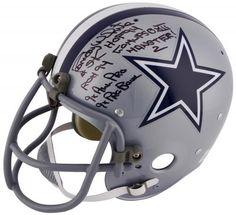 3732171665d3f Randy White Autographed Dallas Cowboys T B Helmet With Stats - SM HOLO