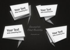 Folded Chat Bubbles (Vector / Psd)