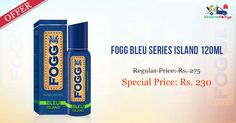 #Fogg #Bleu #Series #Fragnant Body Spray 120ML @ Rs. 230/- Only from Kiraanastore. Get Free Shipping & Quick Home Delivery.