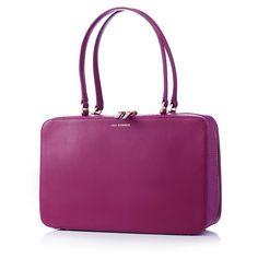 af1af8f31f8ac Lulu Guinness Large Jenny Basket Weave Smooth Leather Handbag 157928 order  online at QVCUK.com