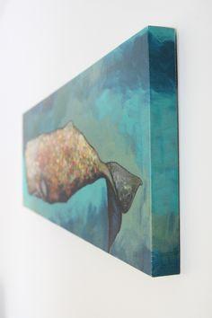 Whale in Seafoam Print by Eli Halpin