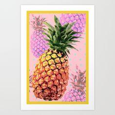 Juicy pineaplle art print!