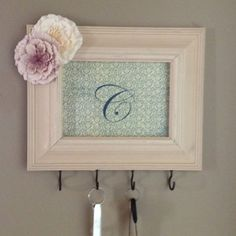 DIY key holder.  So cute, I love making these!